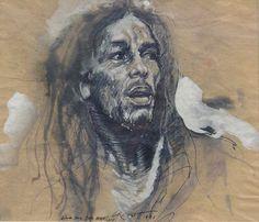 Colette and the stork: Ernest Pignon-Ernest Art Visage, Monochromatic Art, Nesta Marley, Elements Of Art, Street Art Graffiti, Life Drawing, Artistic Photography, Urban Art, Black Art