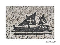 This photo from the TrekLens travel gallery is titled 'Calçada Portuguesa Photo'. Portugal, Wave Design, Pavement, Lisbon, Cool Artwork, Portuguese, Sculpture, Vintage World Maps, Street Art