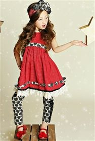 Mustard Pie - First Snow Bernadette Party Dress in Cherry Holiday