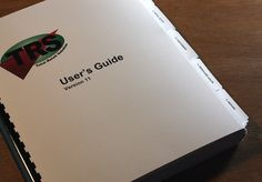 TRS Users Guide - print, tabs + bindery