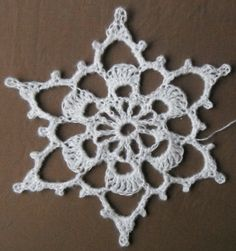 big crocheted snowflake