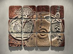 """Equisymbrium"" - a ceramic wall relief assemblage by Chris Gryder, via Flickr"