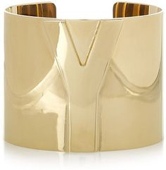 ShopStyle: Yves Saint Laurent Y gold-tone cuff