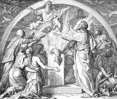 Bilder der Bibel - Noahs Dankopfer - Julius Schnorr von Carolsfeld