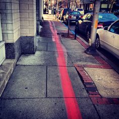 Follow the red line throughout Salem, Massachusetts to see all the historical sights.