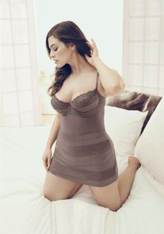 Satin Banded Babydoll. Designed with curves in mind, this alluring number features a support underwire silhouette for excellent lift, with lace and satin-trimmed cups to highlight your assets. #Cacique, exclusively by #LaneBryant