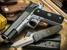 Jason Burton Custom Colt 1911 for Larry Vickers 1911 Pistol, Colt 1911, 1911 Grips, Shooting Range, Shooting Gear, Custom Guns, Custom 1911, Firearms, Shotguns