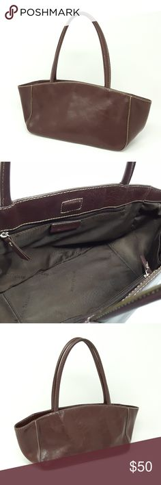 Auth Ann Taylor Leather Bag | Womens Shoulder Bag Authentic Ann Taylor Purse.  Rich brown genuine leather. Magnetic closure purse. Main compartment contains two zippered inner pockets and 2 slide in pockets.  Brown signature Ann Taylor lining.   Enjoy the luxury and feel of a fine leather bag without the expense or guilt of buying new.  Feel good about rescuing a vintage item from the landfill.    Good PRE-OWNED condition. (see photographs) Ann Taylor Bags Satchels
