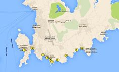 Map of the Best Beaches on Mykonos
