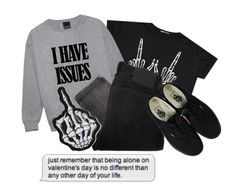 """""""☺i hate u & want 2 die☺"""" by sarah-joy ❤ liked on Polyvore featuring Religion Clothing, Vans, White Label, women's clothing, women, female, woman, misses and juniors"""