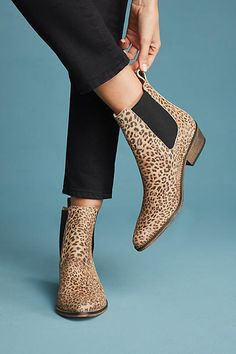 228f099e3815 Anthropologie Ivylee Copenhagen Stella Leopard Booties Leopard Print Boots