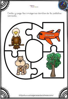 Aprendemos las vocales con este divertido puzzle - Imagenes Educativas Interactive Activities, Classroom Activities, Learning Activities, Kids Learning, Bilingual Kindergarten, Bilingual Education, Teaching Abcs, Kids Collage, Learning English For Kids