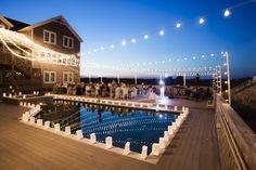 Outer Banks Real Wedding at Wild Horse Event Home by Basnight Photography   Floral by Renee Landry Events #destinationwedding #coastalwedding #oceanwedding #SouthernWedding