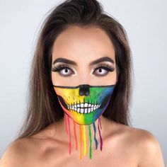 Alien Makeup, Scary Makeup, Skull Makeup, Cute Makeup, Pretty Makeup, Beauty Makeup, Cute Halloween Makeup, Halloween Looks, Halloween Make Up Ideas