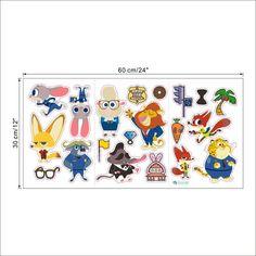 Zootopia Animal World Cartoon Nursery Wall Sticker