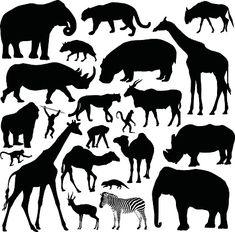 Free Vector Graphics, Free Vector Art, African Animals, African Art, Safari Animals, Animals For Kids, Afrika Tattoos, Animal Stencil, Lion King Art