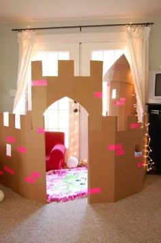 25 DIY Forts to Build With Your Kids This Summer More from my site Learn how to create a DIY cardboard castle for kids. With these free printable resources, you and your children can build a cardboard castle. Free DIY Cardboard Castle for Kids Cardboard Box Crafts, Cardboard Playhouse, Cardboard Castle, Cardboard Box Ideas For Kids, Cardboard Box Houses, Cardboard Tubes, Cardboard Furniture, Playhouse Furniture, Diy Fort