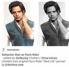 Sebastian stan as flynn rider on we heart it Marvel Actors, Marvel Dc, Marvel Characters, Sebastian Stan, Captain America And Bucky, Bae, Bucky And Steve, Flynn Rider, Disney Princes