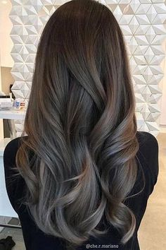 The Best Hair Color Ideas for Brunettes - updos/hair - Hair Designs Hair Color Highlights, Ombre Hair Color, Hair Color Balayage, Blonde Color, Cool Hair Color, Brown Hair Colors, Honey Highlights, Cool Brown Hair, Ashy Brown Hair Balayage