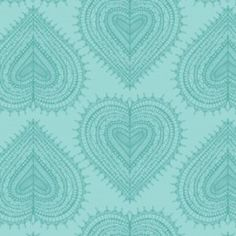 Jane Farnham - Love Letters - Hearts in Aqua