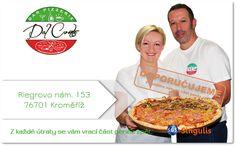 NOVÝ OBCHODNÍ PARTNER V KROMĚŘÍŽI  PIZZERIE DAL CONTE - KROMĚŘÍŽ  Pizzérie, situovaná v historickém centru města Kroměříže, Vám nabízí OPRAVDU ITALSKOU pizzu, pečenou dle tradičních receptur.  Tuto pizzu Vám připraví italský kuchař s dlouholetými zkušenostmi s přípravou pizzy z kvalitních italských surovin.  Eidam u nás opravdu na pizze nenajdete:)  V naší nabídce rovněž naleznete italské lasagne, toasty, panini a další.  VÍNA A NÁPOJE  ROZVOZ PIZZY  http://www.singulis.cz/pages/