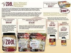 Zeal Nutrition Fact Sheets « Zeal For Life Products