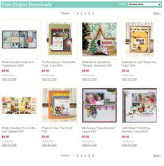 FREE downloadable PDFs!  @Echo Park Paper Christmas Reflections, Echo Park Paper, Tis The Season, Scrapbook Layouts, Projects, Cards, Free, Log Projects, Blue Prints