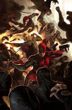 Daredevil vol. 2 #100 cover by Marko Djurdjevic