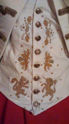 Scottish Riding Habit- embroidered waistcoat
