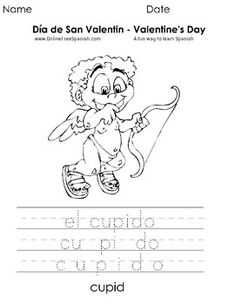 Holidays and Celebrations Día de San Valentin - Valentine's Day - Páginas para Colorear - Coloring Pages Do you need coloring pages for your Spanish Classes? you can print these coloring pages in both languages (English and Spanish) or only in Spanish for