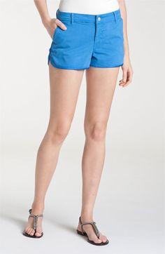 J Brand 'Abby' Satin Trim Shorts (Blue Bonnett Wash)  ITEM #528345        $165.00