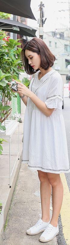 New fashion summer dresses korean ideas Ulzzang Fashion, Asian Fashion, Girl Fashion, Korean Dress, Korean Outfits, Winter Fashion Outfits, Spring Summer Fashion, Asian Style, Wholesale Clothing