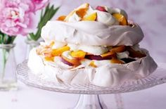 Peach and passionfruit pavlova Triple tested: This one's got wow factor! Melt-in-the-mouth meringue with a gorgeous squidgy marshmallow centre. Brought to you by Essentials magazine