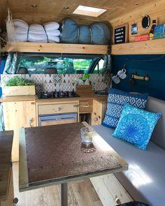 15 Best Interior Design Ideas for Camper Van - Camper Life Interior Trailer, Van Interior, Best Interior Design, Camper Interior Design, Interior Ideas, Van Life, Kombi Motorhome, Kombi Home, Mini Vans