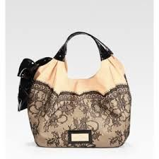 Straw Lace and Leather Patent Nuage Bag