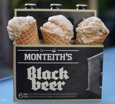 monteith's beer ice cream