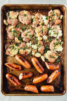 30-Minute Sheet Pan Potatoes and Chicken Sausage