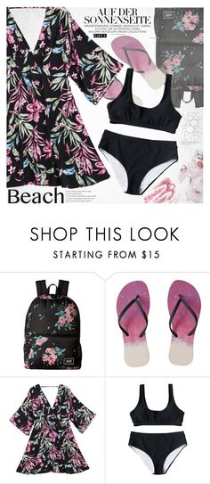 """""""Sun's Out: Beach Day"""" by vanjazivadinovic ❤ liked on Polyvore featuring Vans, Obsessive Compulsive Cosmetics, beachday, polyvoreeditorial and zaful"""