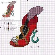 Captain Hook x-stitch shoe