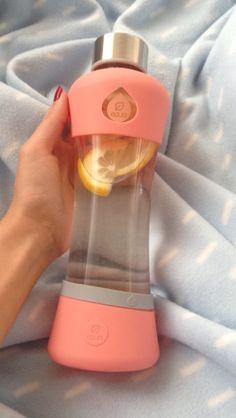 Lemon water is always a good idea! #myequa #lemonwater #reusablebottle #glassbottle #waterbottle