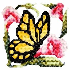 butterfly2 - Cross Stitch Butterfly Machine Embroidery Design