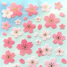 Cherry Blossom Stickers - Japanese Stickers Chiyogami Stickers S2 in Crafts, Scrapbooking & Paper Crafts, Other Paper Crafts | eBay