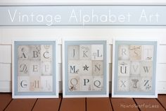 vintage alphabet art free printable