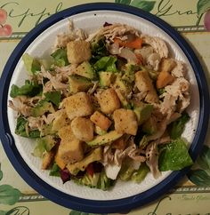 Salad with Veggies, chicken and avocado.