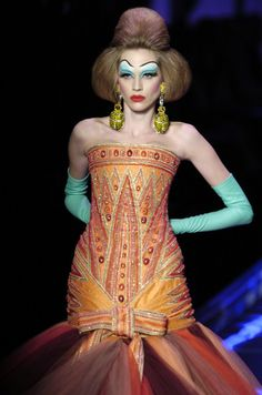 John Galliano for The House of Dior, Spring/Summer Haute Couture Egypt Fashion, John Galliano, Fashion Sketches, Christian Dior, Runway, Spring Summer, Wonder Woman, My Favorite Things, Pictures