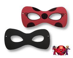 Máscaras infantis de EVA com o tema Miraculous / Ladybug e estão disponíveis em dois modelos:   - Ladybug (vermelha com manchas pretas), para meninas, já que representa uma personagem feminina e  - Cat Noir (toda preta), para os meninos, já que representa um personagem masculino.    O preço do pr...