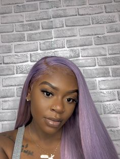 Preferred Human Hair Light Purple Lace Front Wigs Long Straight Remy Hair for Women Baddie Hairstyles, Black Girls Hairstyles, Weave Hairstyles, Hairstyles Videos, Simple Hairstyles, Bridal Hairstyles, Everyday Hairstyles, Formal Hairstyles, Ponytail Hairstyles