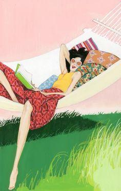 Very enjoyable read … vacation / Lectura muy placentera… vacaciones (ilustración de Robert Wagt)