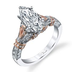 So Unique! Fabulous Engagement Ring Available at Westmount Jewellers. Edmonton, Alberta. Contact: pinterest@westmountjewellers.com