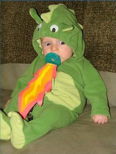 Fire breathing dragon baby costume